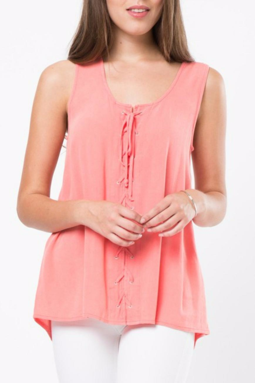 LoveRiche Lace Up Tank - Main Image