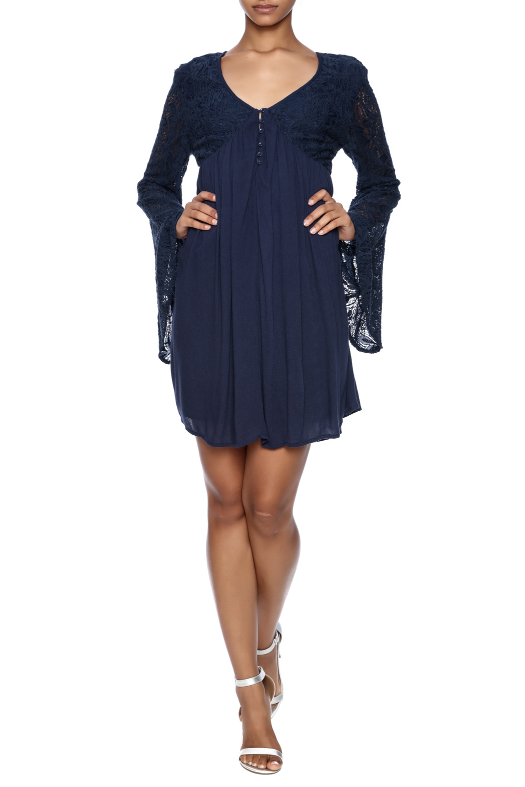 LoveRiche Leanne Lacy Dress - Front Full Image