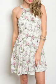LoveRiche Lila Floral Sleeveless Dress - Product Mini Image