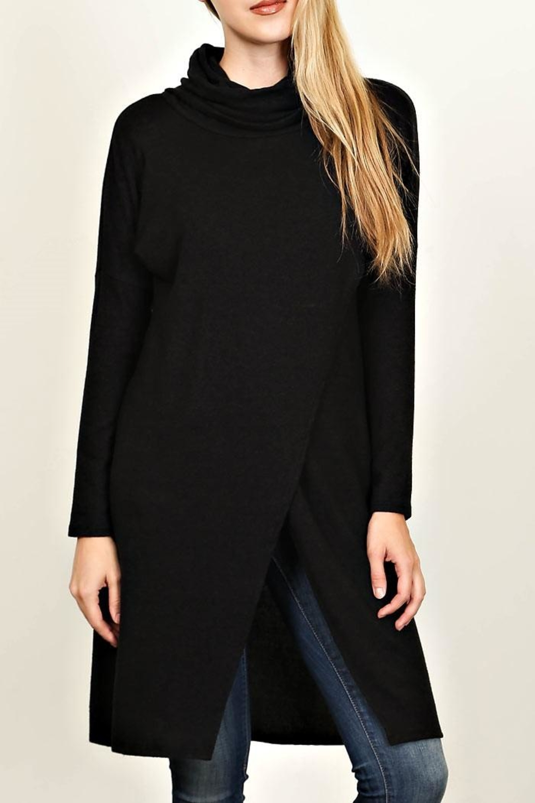 LoveRiche Long Black Tunic - Main Image