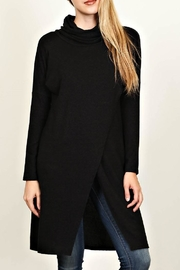 LoveRiche Long Black Tunic - Front cropped