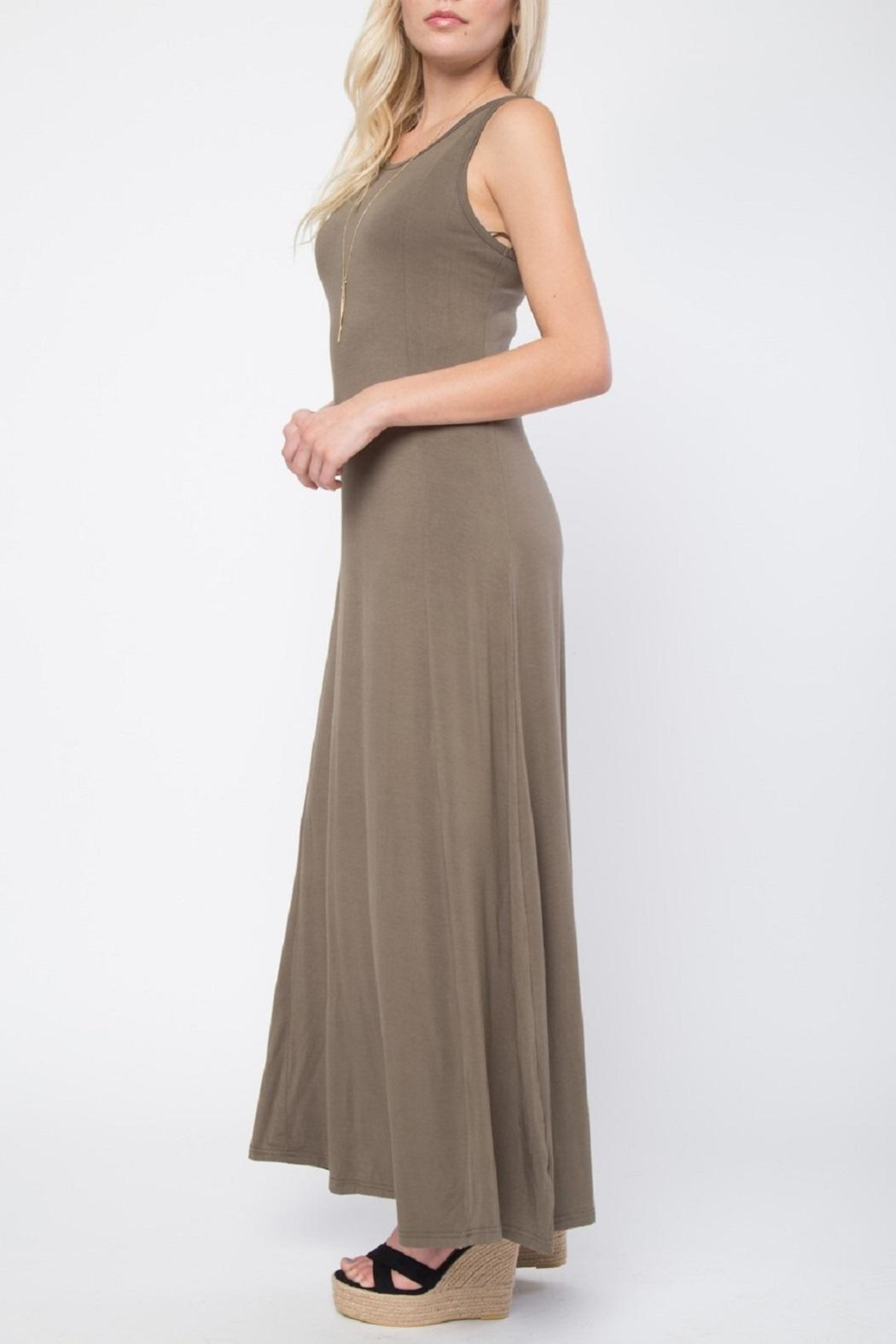 LoveRiche Relaxed Maxi Dress - Front Full Image