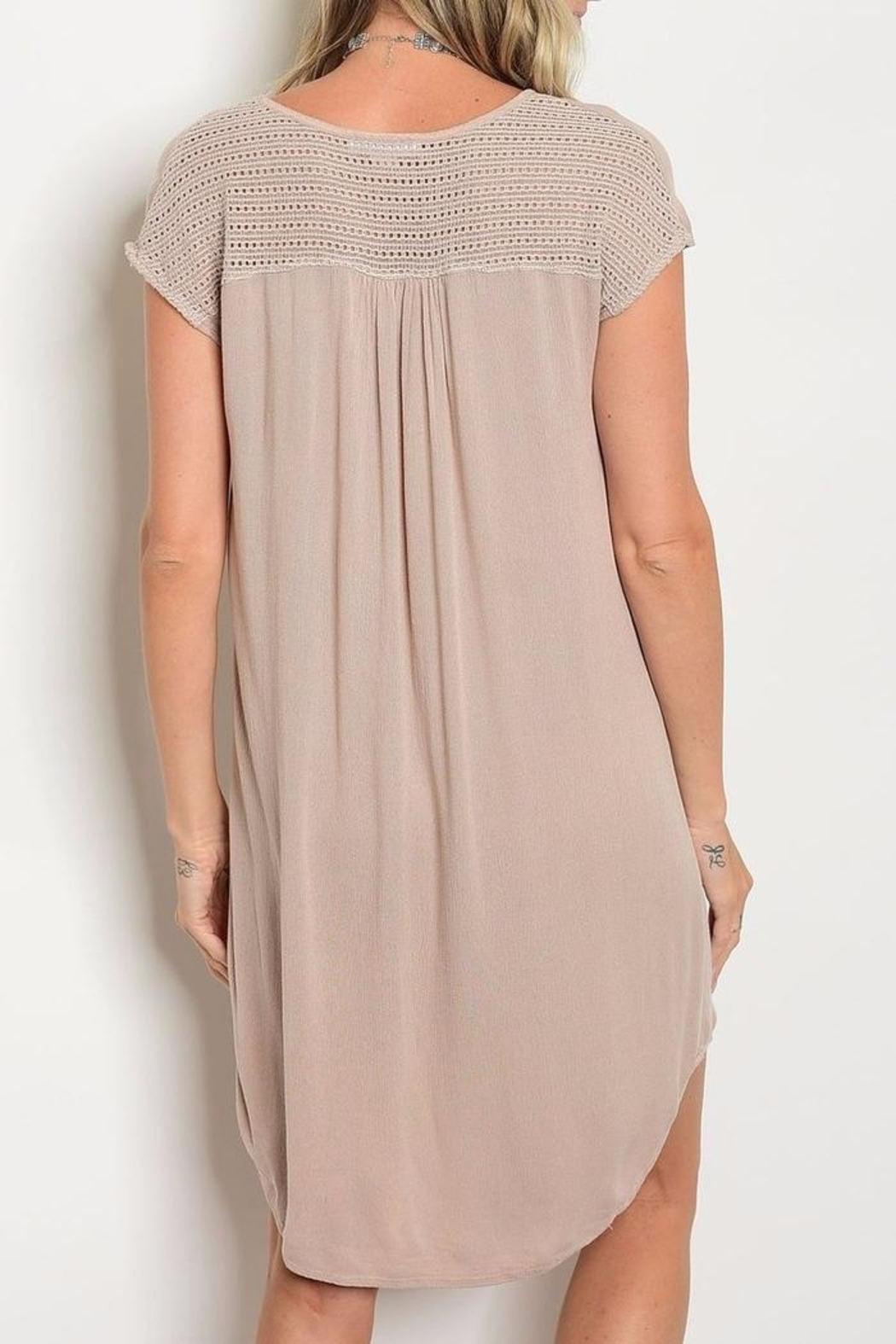 LoveRiche Mineral Wash Tunic Dress - Side Cropped Image