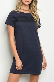 LoveRiche Navy Dress - Front cropped