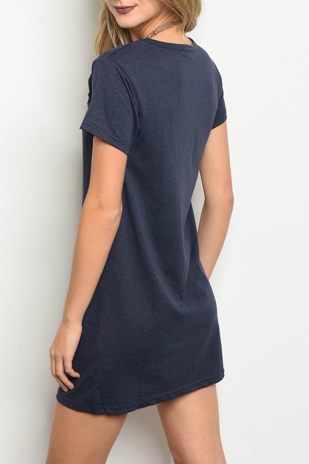 LoveRiche Navy Dress - Front Full Image