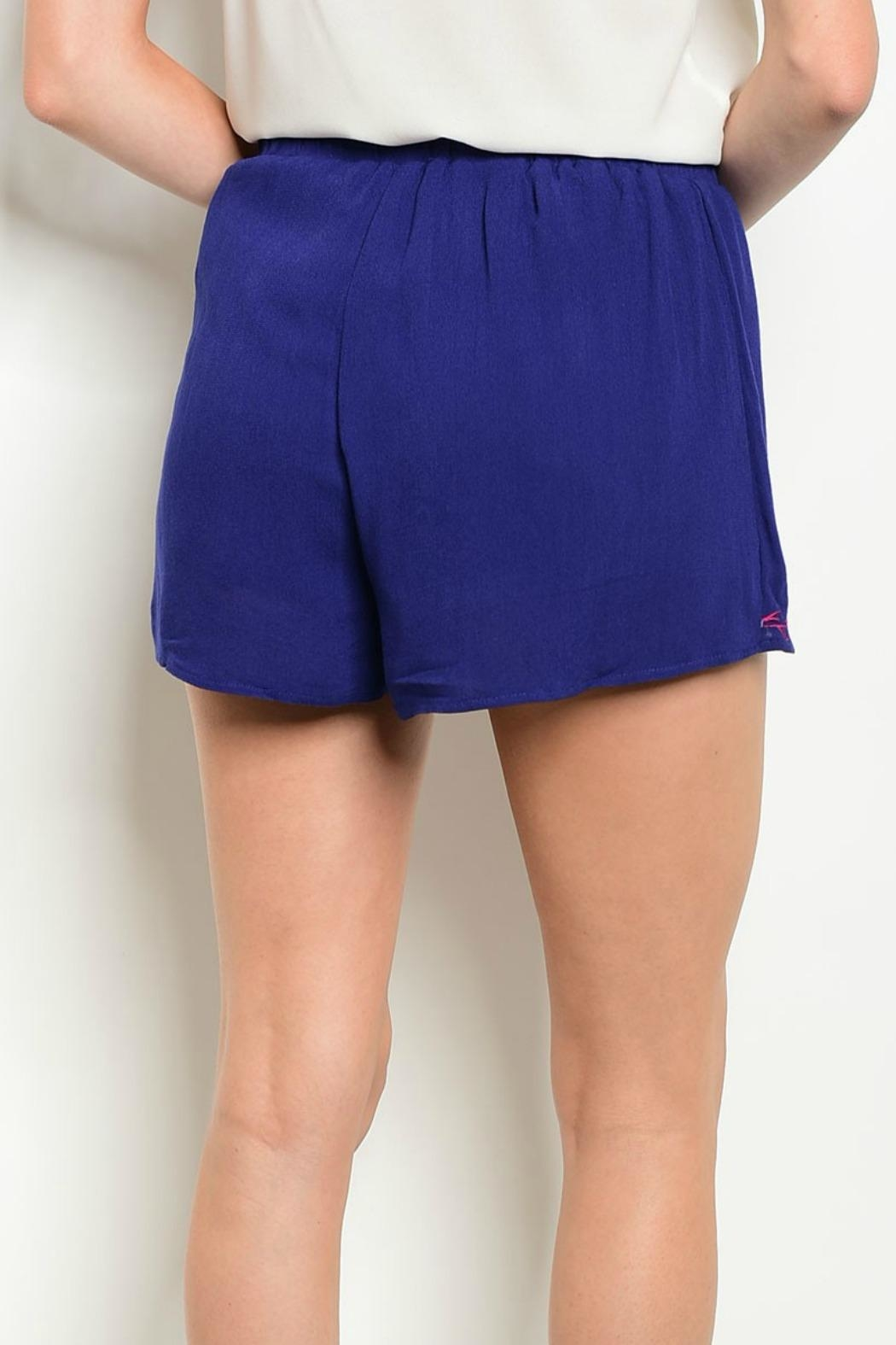 LoveRiche Navy Shorts - Front Full Image