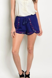LoveRiche Navy Shorts - Front cropped