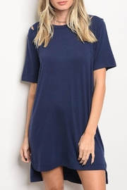 LoveRiche Navy T Shirt Dress - Product Mini Image