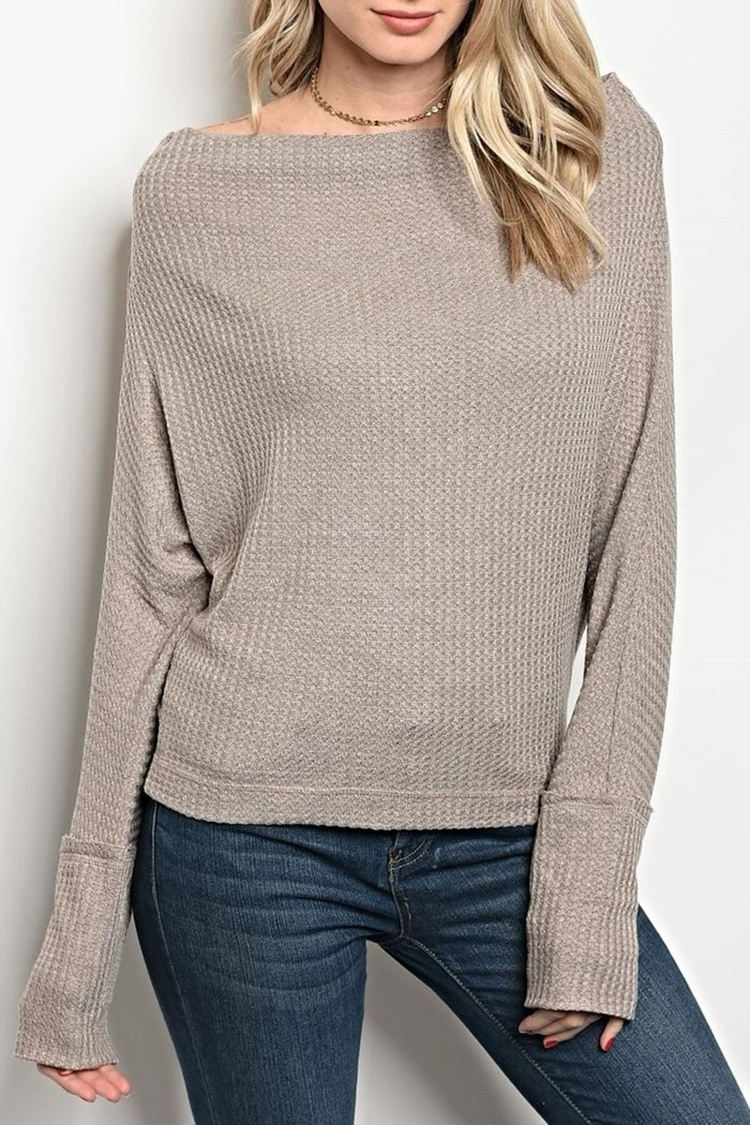 LoveRiche Off Shoulder Top - Front Cropped Image