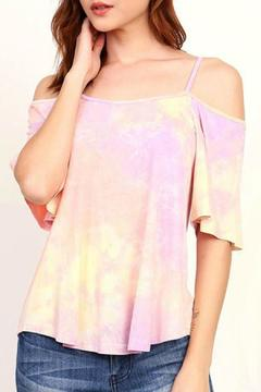 Shoptiques Product: Off The Shoulder Tie Dye Top