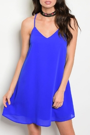 LoveRiche Open Back Shift Dress - Front cropped