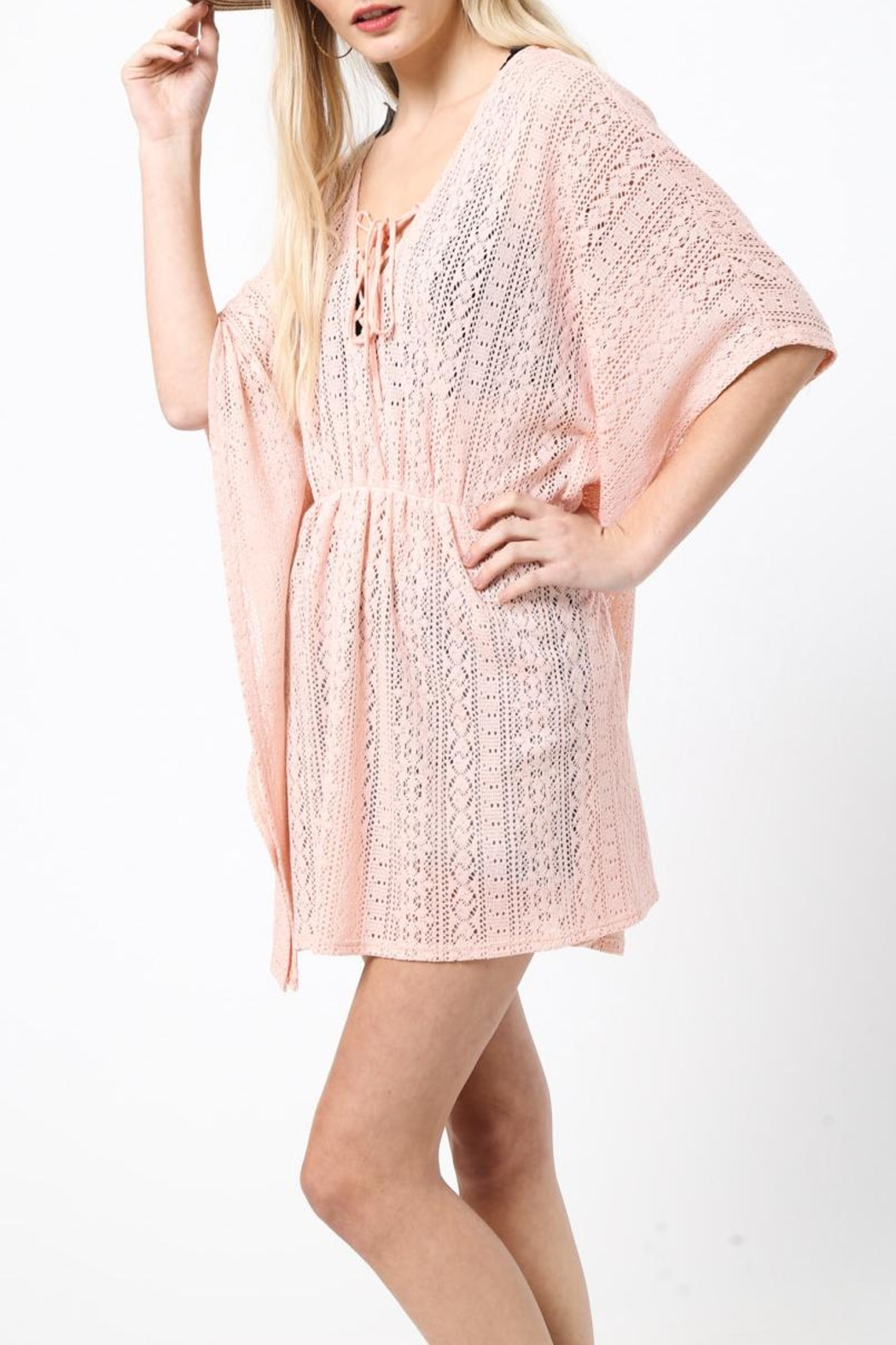 LoveRiche Peachy Keen Coverup - Front Full Image