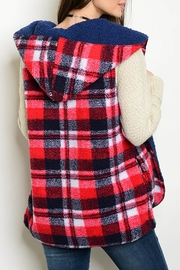 LoveRiche Plaid Winter Vest - Front full body