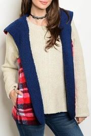 LoveRiche Plaid Winter Vest - Front cropped