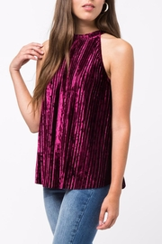 LoveRiche Pleated Velvet Halter Top - Product Mini Image