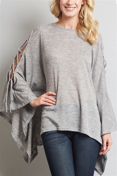 Shoptiques Product: Lace-up Sleeve Poncho Top