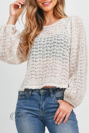 LoveRiche Puff Sleeve Top - Front cropped