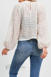 LoveRiche Puff Sleeve Top - Back cropped