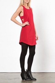 LoveRiche Red Pyramid Dress - Side cropped
