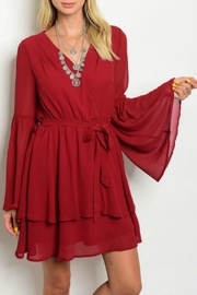 LoveRiche Red Ruffle Dress - Product Mini Image