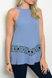 LoveRiche Rory Halter Crochet Top - Front cropped