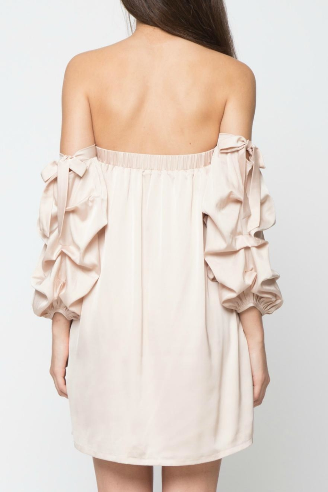 LoveRiche Satin Doll Dress - Side Cropped Image