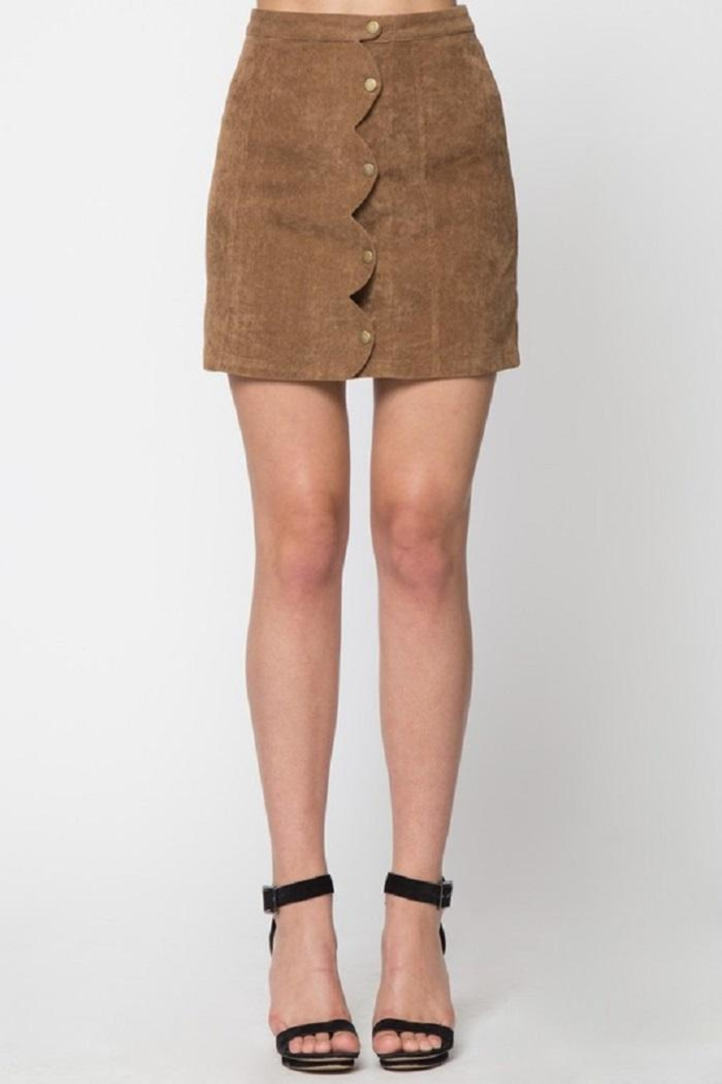 LoveRiche Scallop Corduroy Skirt - Main Image