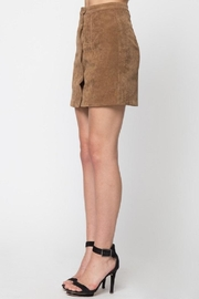 LoveRiche Scallop Corduroy Skirt - Front full body