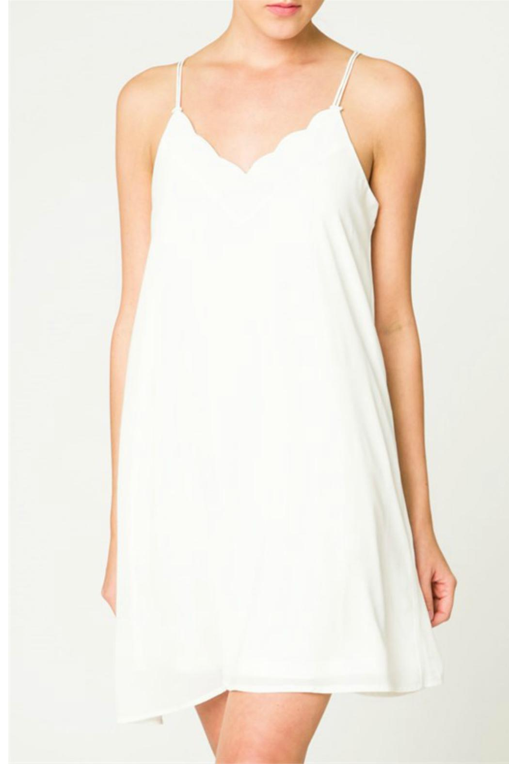 LoveRiche Scallop Slip Dress - Main Image