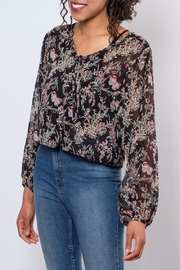 LoveRiche Sheer Printed Top - Front full body