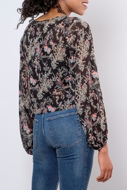 LoveRiche Sheer Printed Top - Side cropped