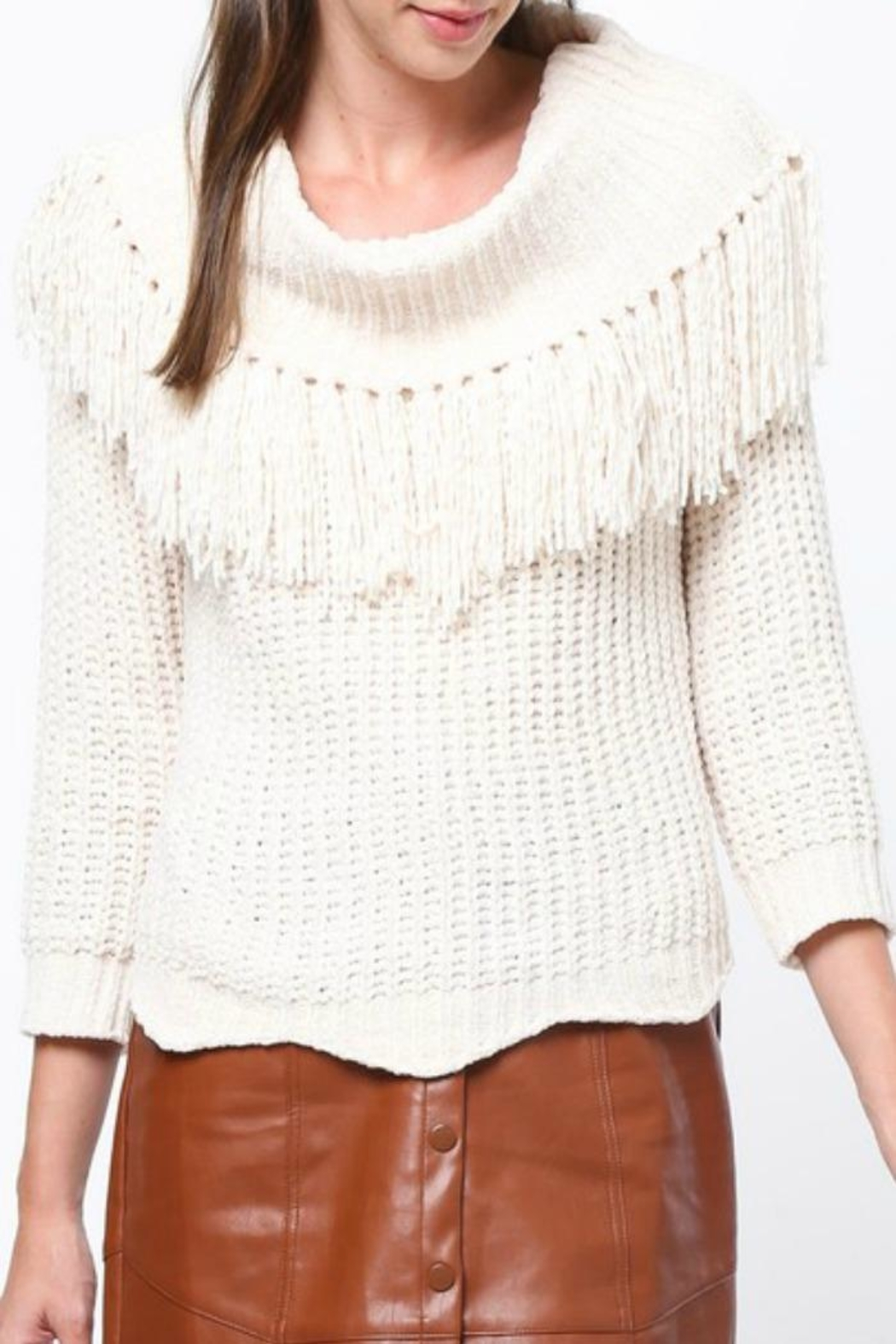 LoveRiche Stay Fringy Sweater - Main Image