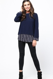 LoveRiche Stripe Combo Sweater - Back cropped