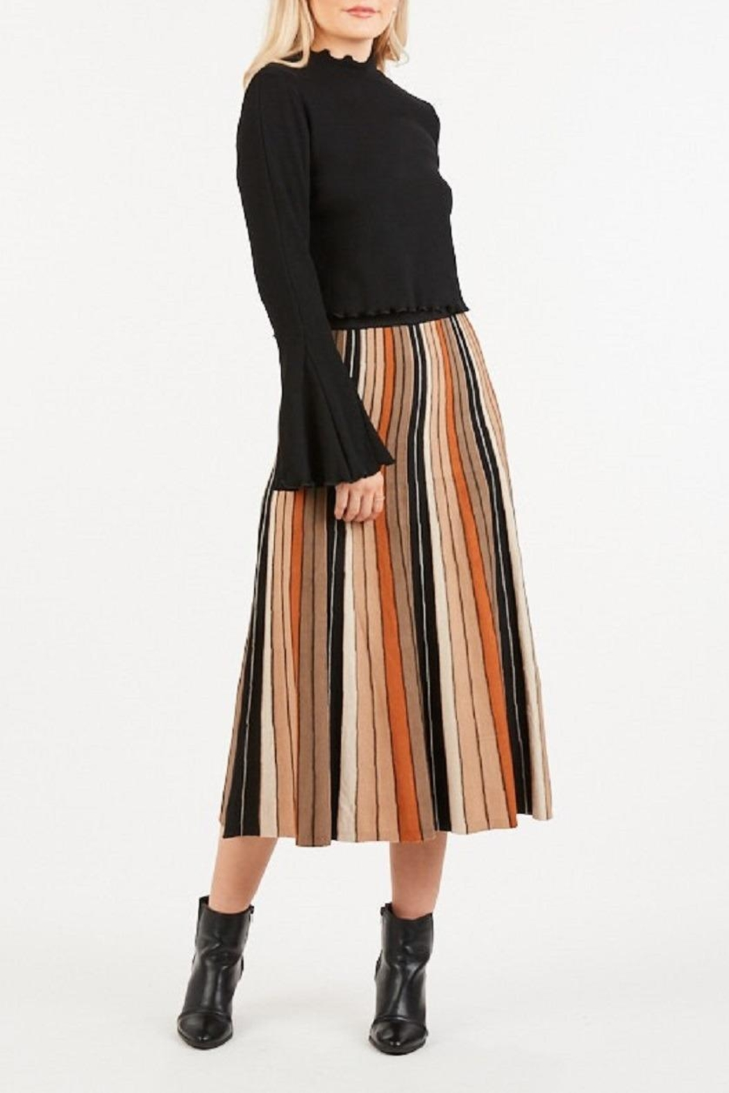 LoveRiche Stripped Knitted Skirt - Main Image