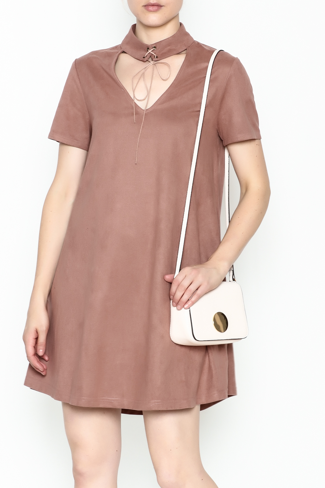 LoveRiche Suede Choker Dress - Main Image