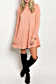 LoveRiche Peach Sweater Dress - Product Mini Image