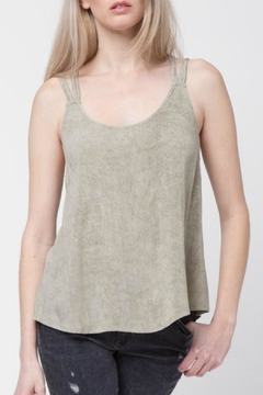 LoveRiche Taupe Criss Cross Tank - Product List Image
