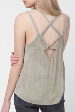LoveRiche Taupe Criss Cross Tank - Alternate List Image