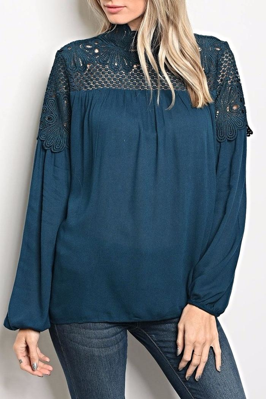 LoveRiche Teal Blouse - Main Image