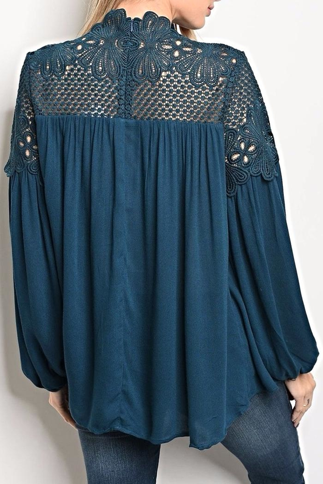 LoveRiche Teal Blouse - Front Full Image