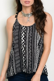 LoveRiche PomPom Tribal Tank - Front cropped