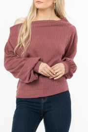 LoveRiche Waffle Knit Top - Product Mini Image