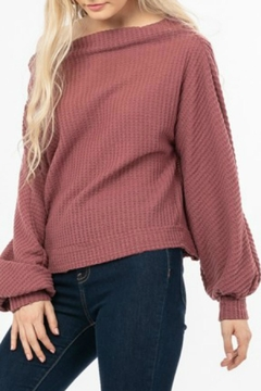 LoveRiche Waffle Knit Top - Alternate List Image