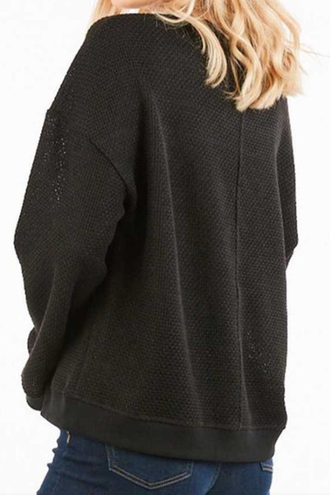 LoveRiche Waffle Knit Top - Front Full Image