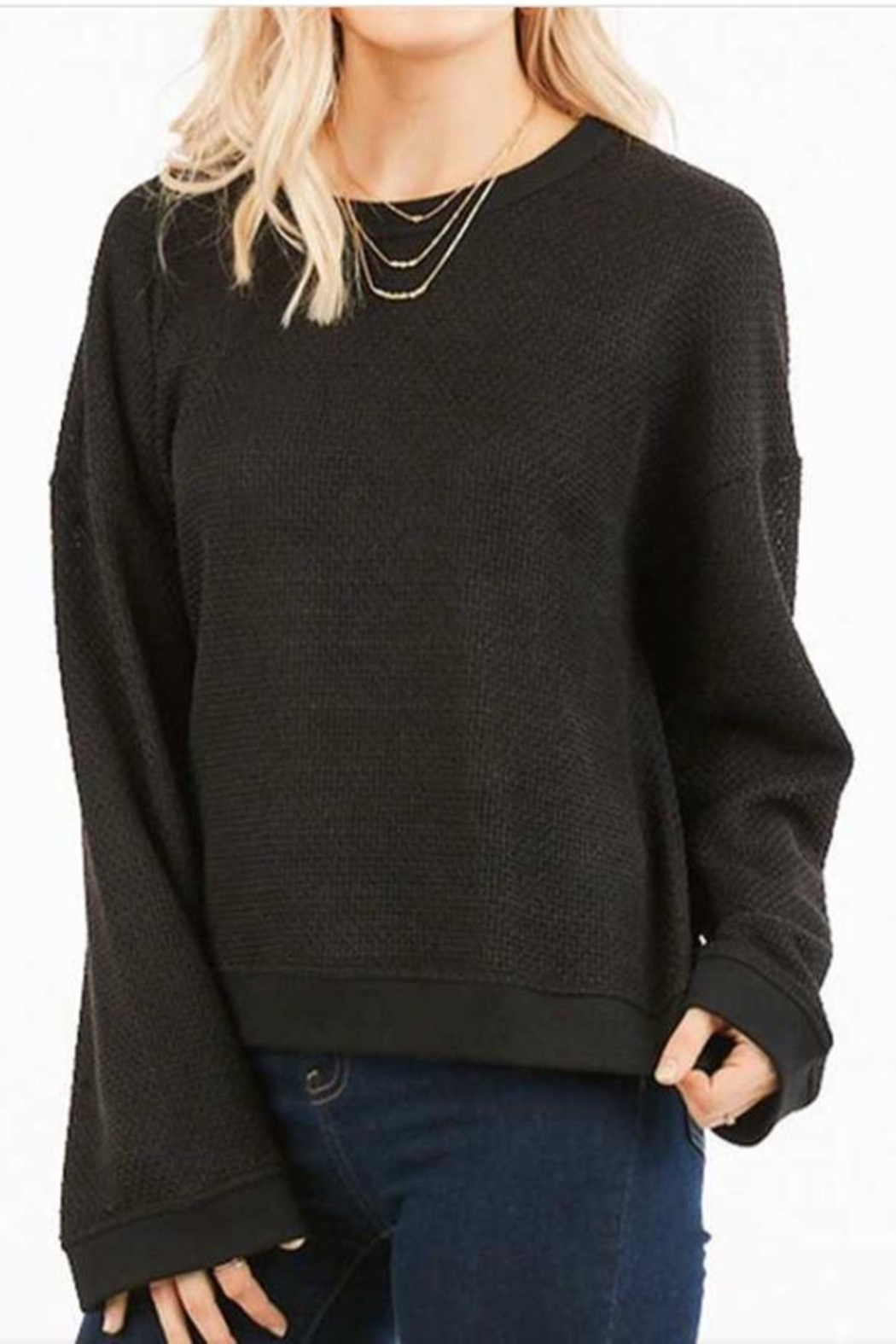 LoveRiche Waffle Knit Top - Main Image