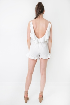 LoveRiche White Ruffled Romper - Alternate List Image