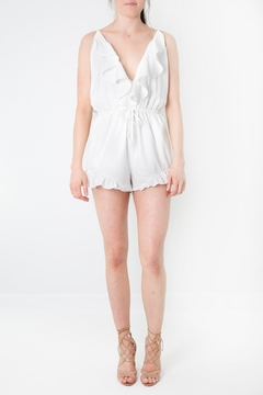 LoveRiche White Ruffled Romper - Product List Image