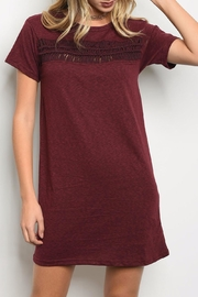 LoveRiche Wine Dress - Front cropped