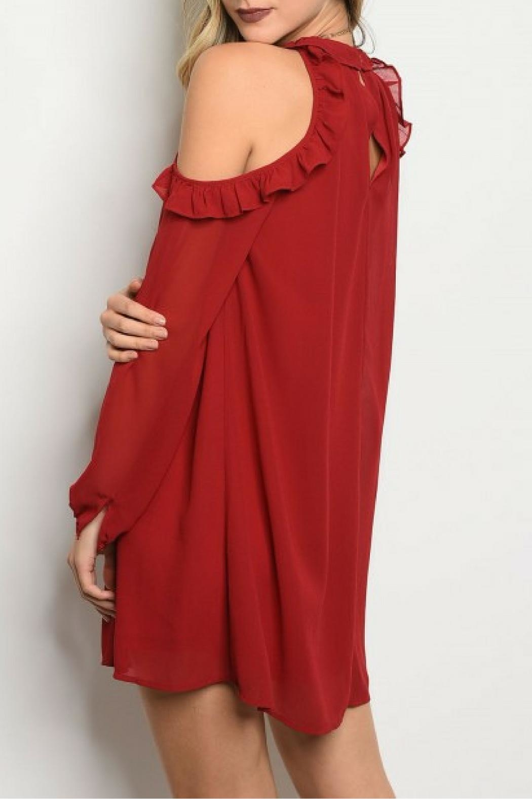 LoveRiche Wine Dress - Front Full Image