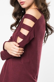 LoveRiche Wine Knit Tunic - Front full body